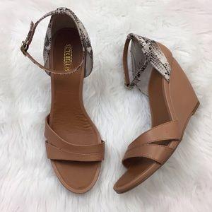 ☂️Seychelles Camel Snake Print Wedge Sandals